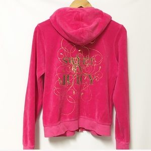 Juicy Couture Terry pink track jacket XL